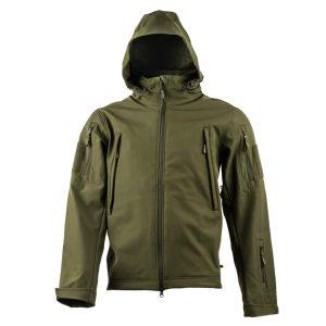 מעיל Soft Shell טקטי - אטום לרוח ולמים. צבע ירוק