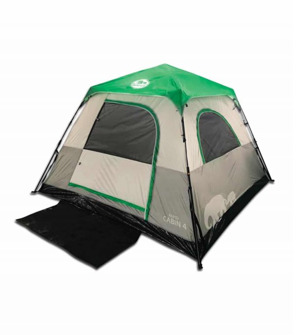 אוהל מרווח לארבעה אנשים במבנה Cabin