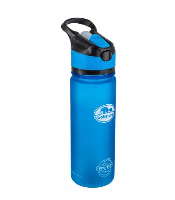"""בקבוק שתייה קשיח בנפח 750 מ""""ל בצבע כחול"""