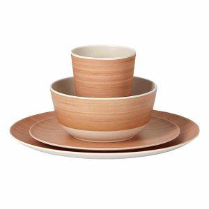 סט כלי אוכל עשוי במבוק רב פעמי
