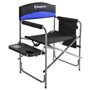 כיסא במאי לשטח בעל מסגרת ברזל - צבע כחול
