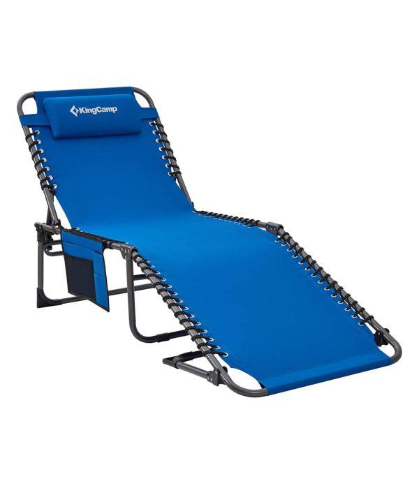 מיטה לקמפינג ושיזוף כחול