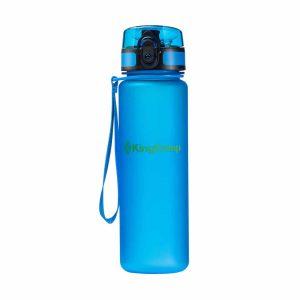 בקבוק מים עם קשית בצבע כחול