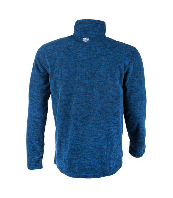 גב חולצת מיקרופליס בצבע כחול מלאנג'