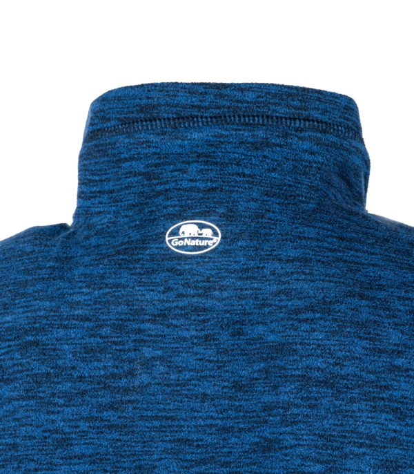 צווארון גב חולצת מיקרופליס בצבע כחול מלאנג'
