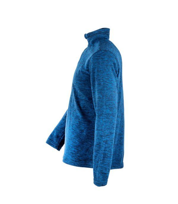 צד חולצת מיקרופליס בצבע כחול מלאנג'