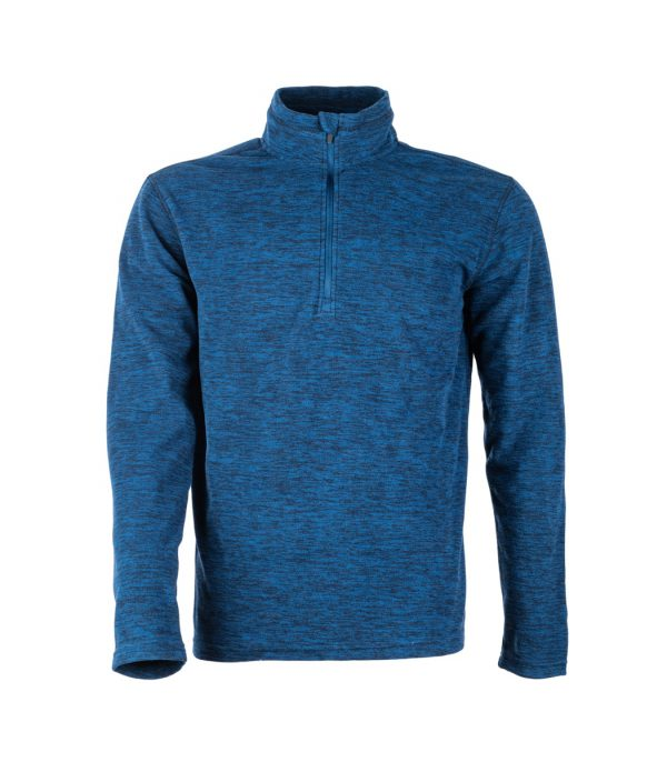 חולצת מיקרופליס בצבע כחול מלאנג'