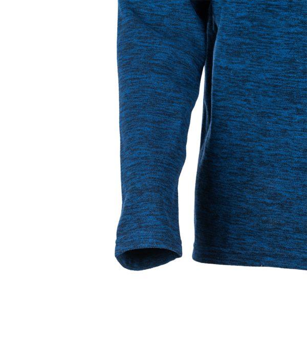 שרוול חולצת מיקרופליס בצבע כחול מלאנג'