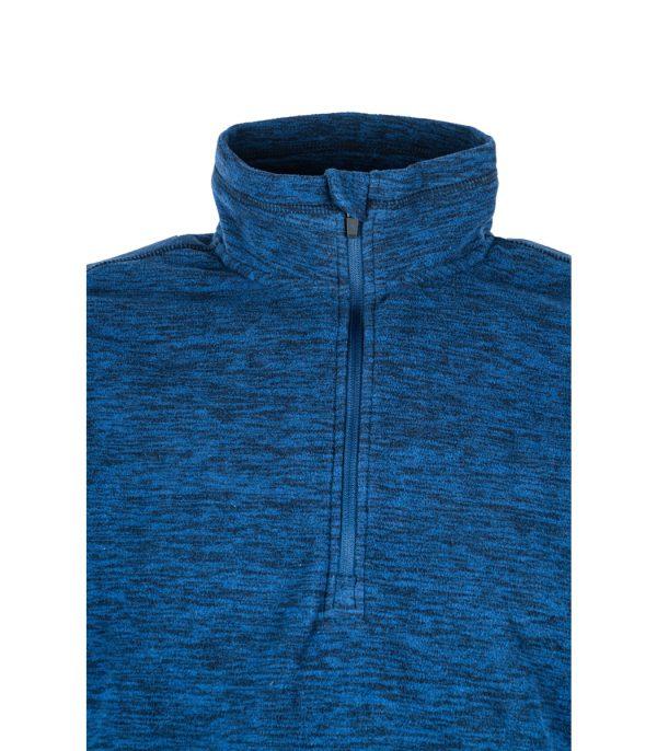 חצי רוכסן לחולצת מיקרופליס בצבע כחול מלאנג'