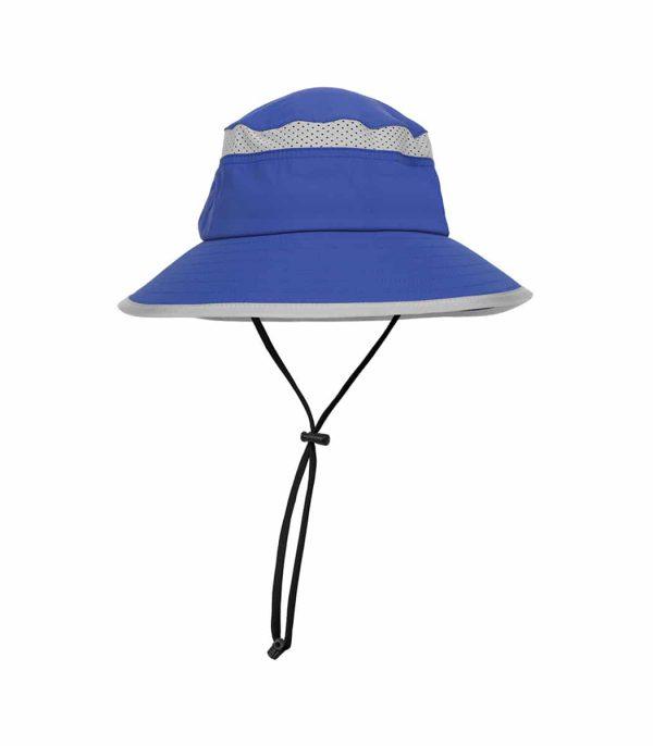 כובע רחב שוליים לילדים להגנה מפני השמש צבע כחול