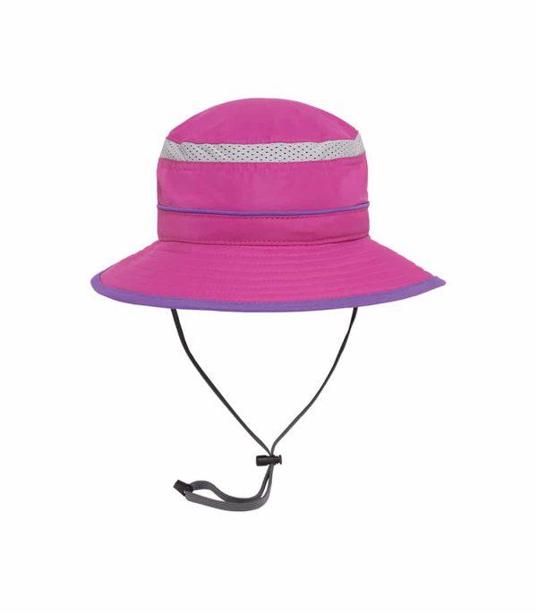 כובע רחב שוליים לילדים להגנה מפני השמש צבע ורוד