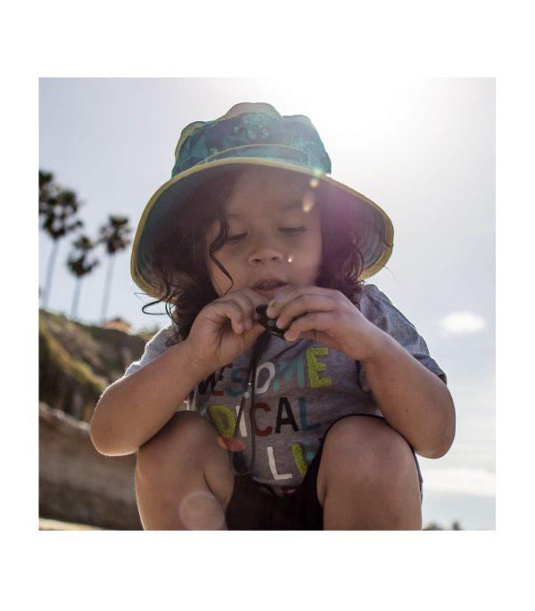 כובע רחב שוליים לילדים להגנה מפני השמש