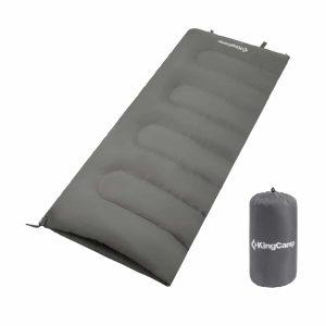 שק שינה בצורת מעטפה, יכול לשמש גם כשמיכה צבע אפור
