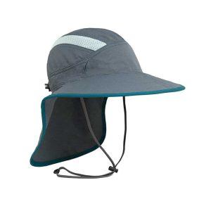 כובע מטיילים איכותי רחב שוליים עם תוספת בד להגנה על העורף, קל משקל ומתקפל. צבע אפור