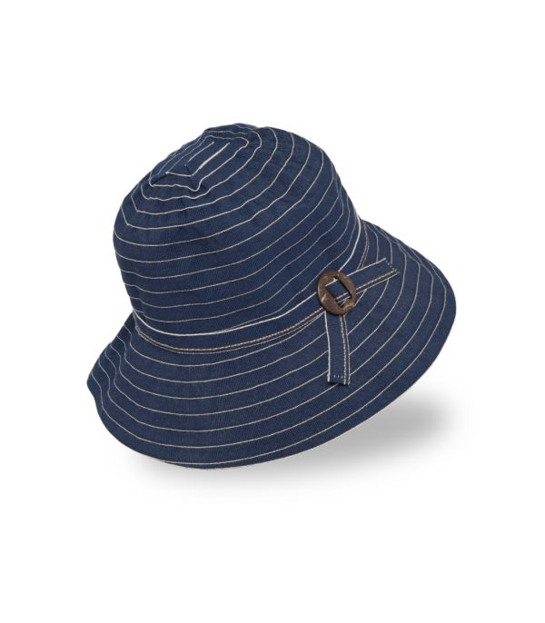 כובע אופנתי וקל לנשים, מתקפל קומפקטי צבע כחול