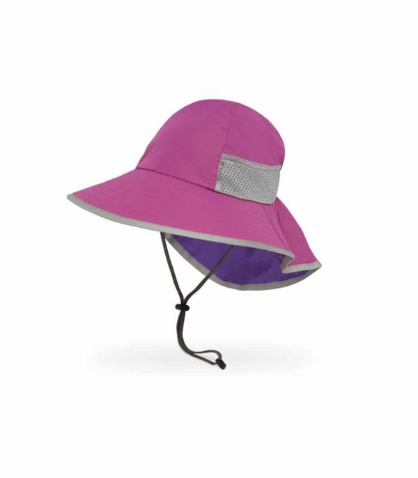 כובע מצחיה לילדים להגנה מפני השמש צבע ורוד