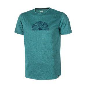 חולצת טי אאוטדור מנדפת זיעה עם הדפס בצבע ירוק