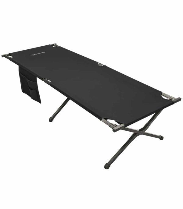 מיטת שדה מתקפלת מפלדה צבע שחור